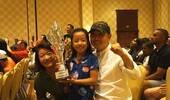 赢赢又赢了!刘国梁爱女首获高尔夫世界冠军
