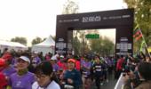 2018北京女子半程马拉松鸣枪 紫色战袍点亮女性自信