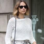 薄针织+裙装最时髦的3种搭配法则
