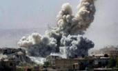 叙利亚遭以色列空袭画面