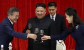 朝韩领导人碰杯