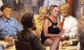 特朗普的油画被网友玩坏了