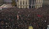 意大利民众街头游行示威