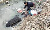 河南:男子酒后落水 次日被冻在冰里