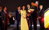 奥巴马访问越南画面