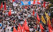 香港逾万人示威抗议现场
