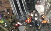 """香港40米""""通天扶梯""""急停 18人滚落受伤"""
