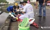"""泰国男子被撞 路人把断腿塞进饮水桶""""冰镇"""""""