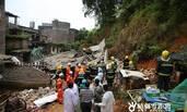 特大暴雨致广西一民房倒塌 3死4伤