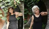 70岁老奶奶模仿林志玲 举手投足神还原