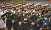 女兵方阵首次亮相国事访问欢迎仪式