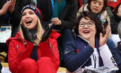 伊万卡与韩总统夫人观战冬奥会