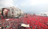 土耳其总统大选前夕 反对党竞选集会场面壮观