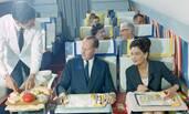 20世纪60年代的飞机头等舱 看起不输现在