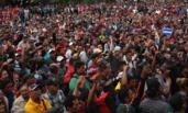 数千移民试图借道墨西哥进入美国