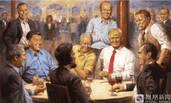 特朗普办公室添了这幅新画