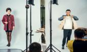 马云与模特PK服装展示一幕
