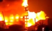 广东一工厂大火 整栋楼轰然倒塌