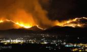 加拿大林火摧毁城区画面