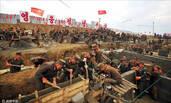 朝鲜灾后重建工地现场画面曝光