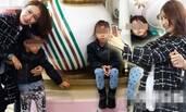 45岁黎姿带3个女儿闹市区游玩 驻颜有术风采不减当年
