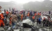 四川山体垮塌救援现场 500余人赶往