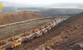 山西土豪用数百车为母送葬