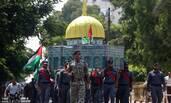 巴勒斯坦安全部队游行抗议