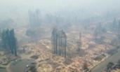 加州山火破坏力惊人 大火过后社区变平地