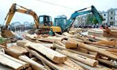 江西县城集中销毁500口棺材发电