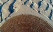 在塔克拉玛干沙漠治沙