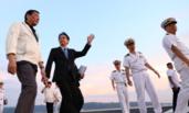 菲律宾总统登上日本加贺号准航母