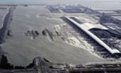 """台风来袭 日本机场变""""码头"""""""