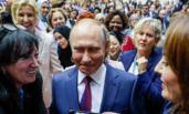 普京出席妇女论坛受追捧