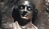 美国一雕塑被人装上眼睛 政府:犯罪