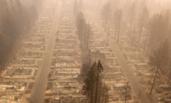 美国:山火将房屋被烧成平地