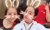 刘亦菲零点为张靓颖庆生 小兔子造型萌萌哒