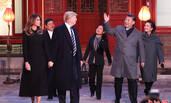 习近平夫妇陪同特朗普夫妇观看京剧表演