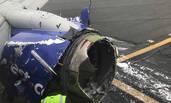 美国一客机发生引擎爆炸 迫降费城