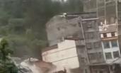 广西暴雨 6栋高楼突然倒塌