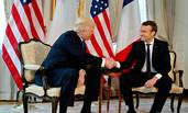 特朗普与马克龙在比利时首次会晤