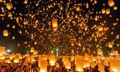 泰国清迈水灯节