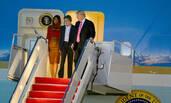 特朗普一家抵达西棕榈滩度感恩节假期
