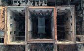 航拍巴西国家博物馆 已烧成空架