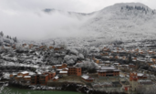 甘肃:雪中的官鹅沟