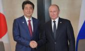 普京与安倍晋三在新加坡会晤