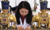 """故宫修复古董宫灯 有望春节""""点亮""""紫禁城"""