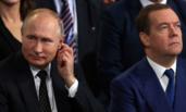 普京和梅德韦杰夫同时出席会议