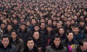 纪念金正日的朝鲜民众