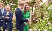 凯特王妃一袭绿裙看花展 人比花娇俏